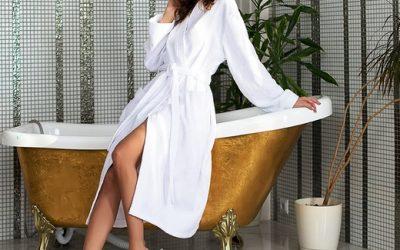 Базовый халат под вышивку